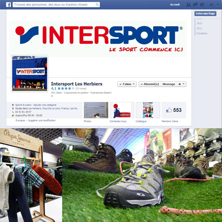 Page Facebook Interpsort les herbiers